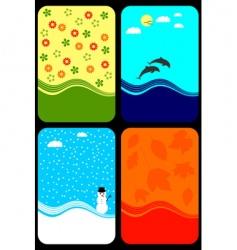 seasons background vector image vector image