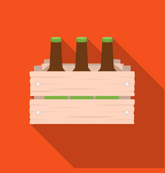 box with beer icon in flat style isolated on white vector image