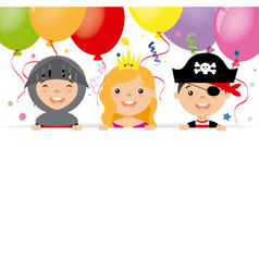 costume party card vector image vector image