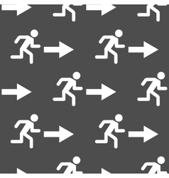 Exit arrow pattern seamless vector image