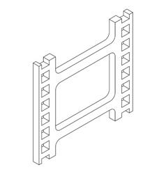 Film strip icon isometric 3d style vector image