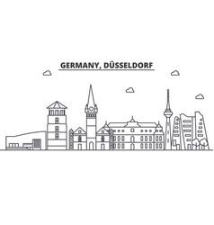 germany dusseldorf architecture line skyline vector image vector image