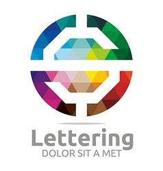 lettering s rainbow alphabet design vector image vector image