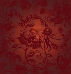 pattern dark brown vector image vector image