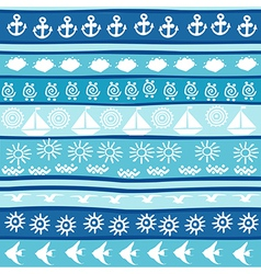 Background with marine motifs vector image vector image