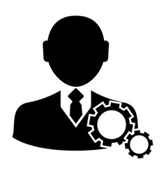 businessman with gear icon vector image