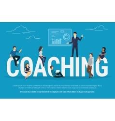 Coaching concept vector