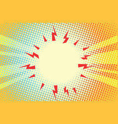 electric sparks of energy pop art background vector image