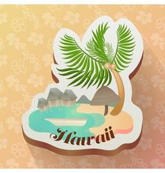 hawaii ocean in summer icon with seamless hawaii vector image