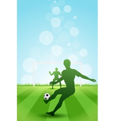 Soccer Background with two Players vector image vector image