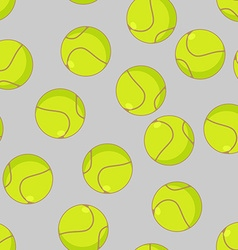 Tennis ball seamless pattern Sports accessory vector image