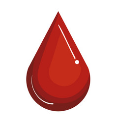 drop blood isolated icon vector image