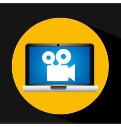 film movie online digital technology graphic vector image