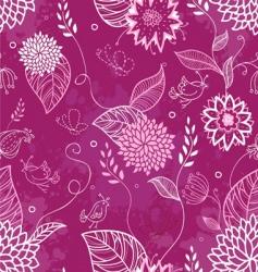 floral doodle pattern vector image vector image