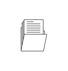 folder thin line icon portfolio outline vector image vector image