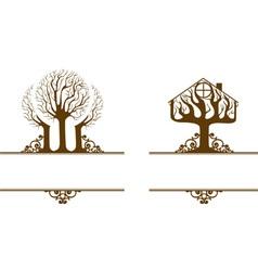garden house vector image vector image