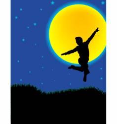moonlight dancer vector image