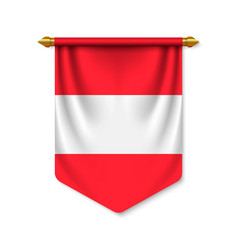 3d realistic pennant with flag vector