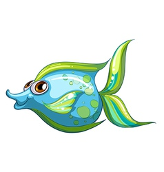 A big blue fish with a stripe-colored tail vector image