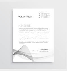 Abstract professional letterhead design template vector