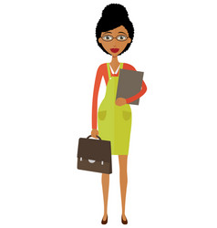 african american young businesswoman standing vector image