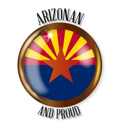 Arizona proud flag button vector