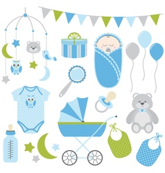 Baby Boy Set vector