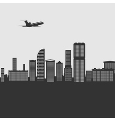 Background City Buildings vector image