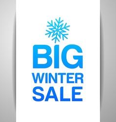 big winter sale vector image
