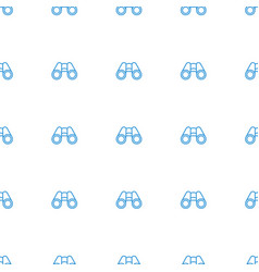 binoculars icon pattern seamless white background vector image