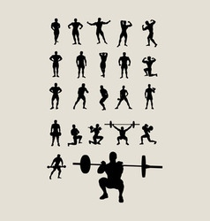 Body Building and Lifting Weights vector