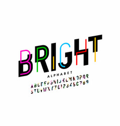 bright colorful style font design creative vector image