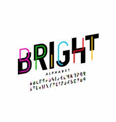Bright colorful style font design creative vector