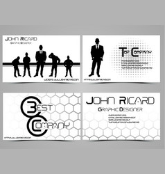business card abstract creative set 6 vector image