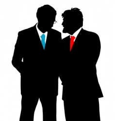 businessmen talking vector image