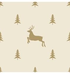 Christmas reindeer seamless line pattern tile vector