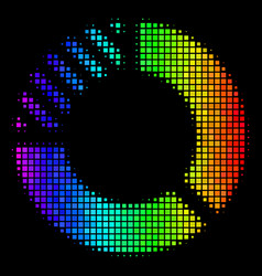 colored dotted pie chart icon vector image