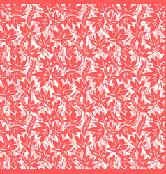 coral color floral pattern vector image