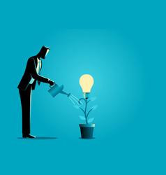 Creating ideas business creative idea concept vector