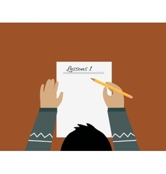 Education Paper Sheet Design Flat vector image