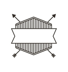 Elegant frame with arrows icon vector