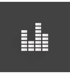 Equalizer icon Music sound wave symbol vector