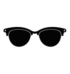 Eyeglasses for blind icon simple style vector
