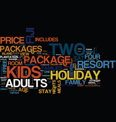 Fiji holiday packages text background word cloud vector