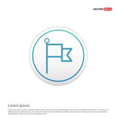 flag mark icon - white circle button vector image