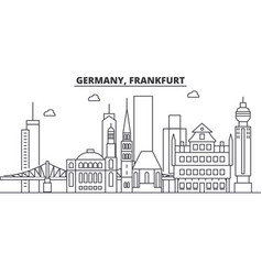 Germany frankfurt architecture line skyline vector