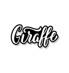 Giraffe calligraphy template text for your design vector