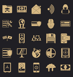 Globalization icons set simple style vector