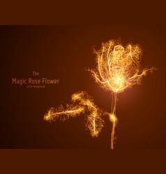 Glowing rose flower vector