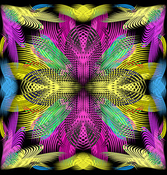 graffiti on a geometric background seamless vector image